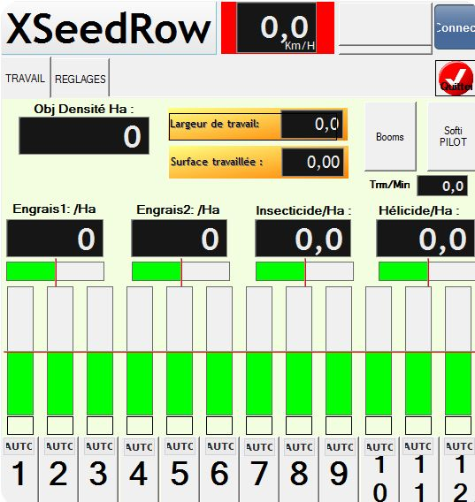 Application pour tablette XSeedRow
